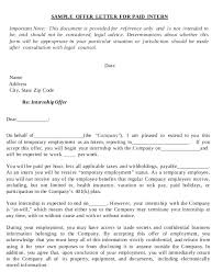 company offer letter template sample business offer letter free business offer letter template