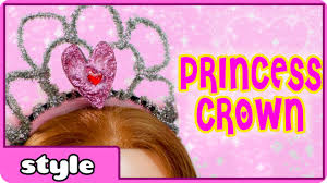 how to make a princess crown make a tiara diy for kids youtube