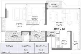 2bhk floor plan 2 bhk tata serein at pokhran road no 2 thane floor plan