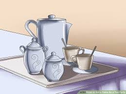 How To Set Silverware On Table How To Set A Table For A Tea Party With Pictures Wikihow