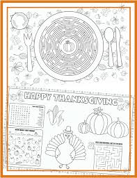 free printable thanksgiving mazes placemats to color for thanksgiving free u0026 easy download