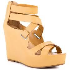 yellow wedge heels fs heel
