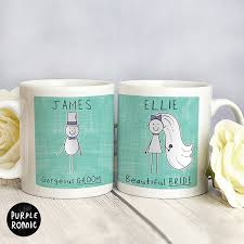 wedding gift mugs personalised purple ronnie mr mrs mug wedding gift set