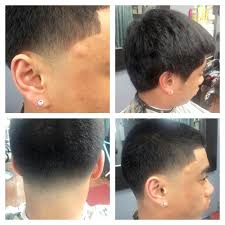 tape up fade haircut undercut combover with a tape up part and a