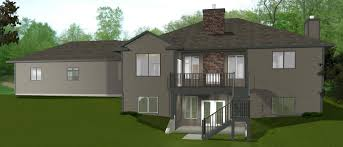 walk out ranch house plans rear click walkout basements plans by edesignsplans house plan bun