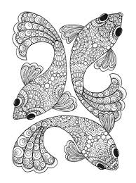 coloring fish coloring pages adults coloring