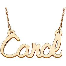 14kt gold name necklace personalized women s 14kt gold script name necklace 18 walmart