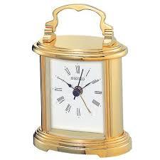seiko table alarm clock in brass finish quartz movement