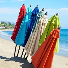 Ll Bean Beach Umbrella by 9 U0027 Citron Aluminum Tilting Umbrella Pier 1 Imports