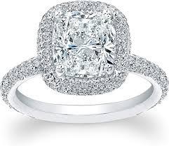 Cushion Cut Halo Diamond Engagement Ring In Platinum Thin Micro Pave Halo Diamond Engagement Ring Ad4600
