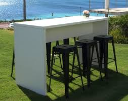 rectangle high top table furniture rectangle white wooden outdoor high top table with double