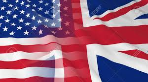 Flag Of The Uk American And British Relations Concept Merged Flags Of The Uk