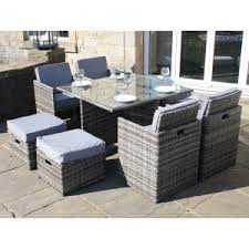 Grey Rattan Outdoor Furniture by Rattan Cubes