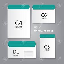stationery envelopes vector mockup design of 4 types of stationery envelopes royalty