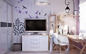 wandgestaltung jugendzimmer wandgestaltung jugendzimmer mädchen flieder farbe aufkleber vögel