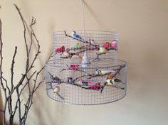 Diy Birdcage Chandelier Diy Birdcage Chandelier Lamp Shade With Artificial Birds