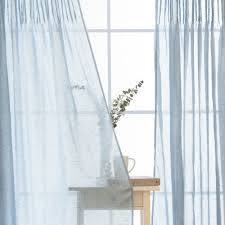 Tie Top Curtain Panels Aurora Home Tie Top Pinch Pleat Faux Pippin Linen 84 Inch Curtain