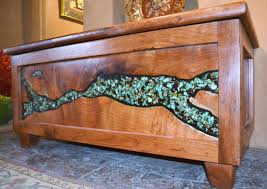 Cedar Dining Room Table One Of A Kind Mesquite Furniture Turquoise Butterfly