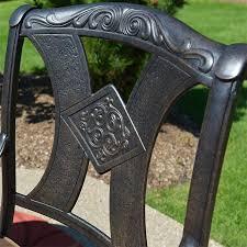Patio Furniture Seating Sets - amalia 8 piece luxury cast aluminum patio furniture deep seating