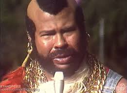 mr t feather earrings mr t does not climb walls gifs