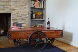 news rail cart coffee table on rail cart coffee table by