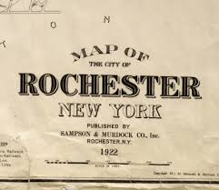 New York Map Rochester by Rochestersubway Com Rochester Map Typography