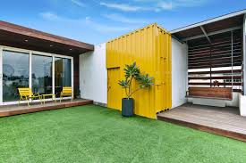 roof top house constructed with used shipping containers studio