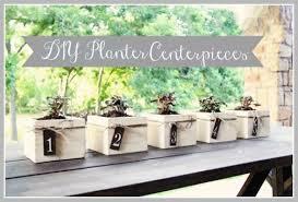 diy planter box centerpieces rustic wedding chic