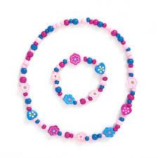 pink necklace set images Pink toddler necklace set jojo maman bebe jpg