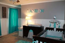 Baby Room Colors Landon U0027s Room Simple Turquoise Blue U0026 Green Grey And White
