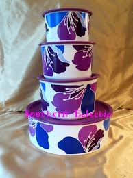 purple kitchen canister sets tupperware purple blossoms 4pc canisters set canister sets