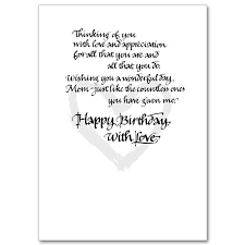 a loving mother woman of faith birthday card for mother