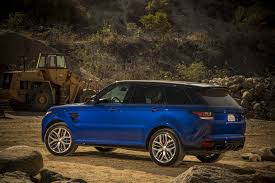 brown range rover here u0027s how quick the range rover sport svr is on dirt snow and