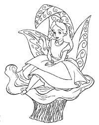 alice wonderland color pages print disney coloring pages