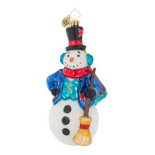 christopher radko ornaments vintage frost snowman ornament 1019129