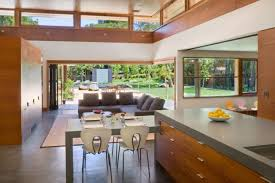 Pictures Of Open Kitchens And Living Rooms by Open Plan Interior Of Modern Kitchen Across Living Room With