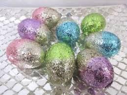 glitter easter egg ornaments easter eggs egg glitter ornaments decor decorations set of 8 ebay