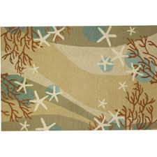 Coastal Outdoor Rugs Coral Waves Rug Is A Coastal Themed Rug With Waves Of Neutral