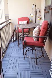 Patio Furniture For Balcony by Small Balcony Makeover A Must Read For Renters