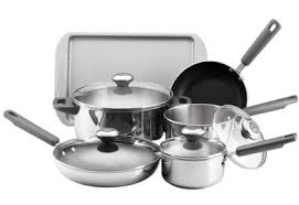 target black friday cookware cookware deal farberware 10 piece stainless steel set only 60 at