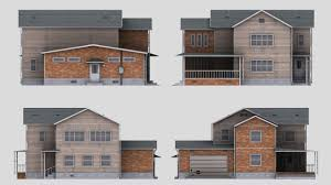 two story home two story house 3d model cgtrader