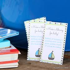 Bring Book Instead Of Card To Baby Shower Nautical Baby Shower Card Or Book Boat The Country Chic Cottage