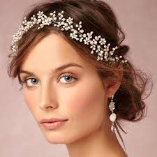 hair accessories for women handmade new fashion pearls leaf bridal hair accessories