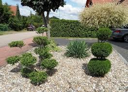 gartengestaltung mit steinen und grsern vorgarten gestalten mit kies und grasern möbelideen