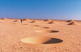 simply creative desert breath land art installation in sahara
