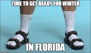 Florida Winter Meme - socks and sandals imgflip