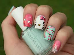 simple u0026 easy hello kitty nail designs for beginners