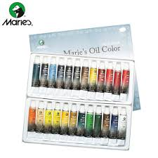 Minyak Cat cat minyak maries color set 24 lix supplies