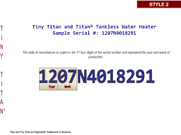 titan water heater age building intelligence center