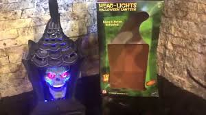 gemmy head lights animated lantern with skull youtube